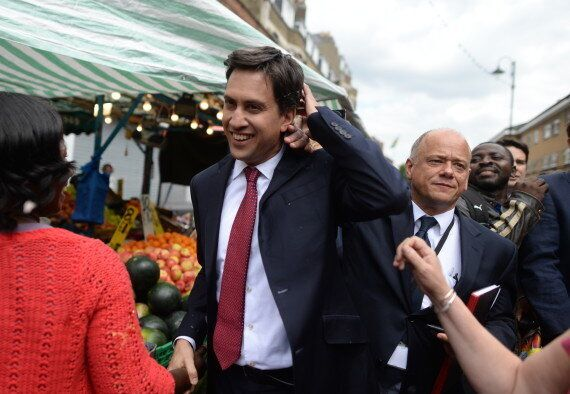 Ed Miliband Pelted With Eggs By Irate Voter During Walkabout In