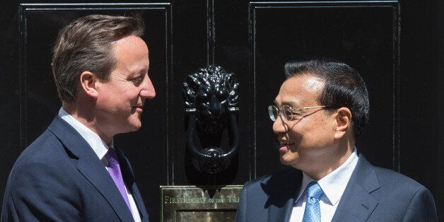 Prime Minister David Cameron leaves 10 Downing Street in London after meeting with his Chinese counterpart...