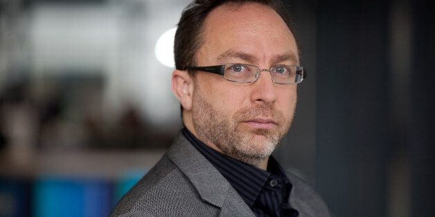 Jimmy Wales, co-founder of Wikipedia, poses for a photograph in London, U.K., on Monday, Nov. 7, 2011....