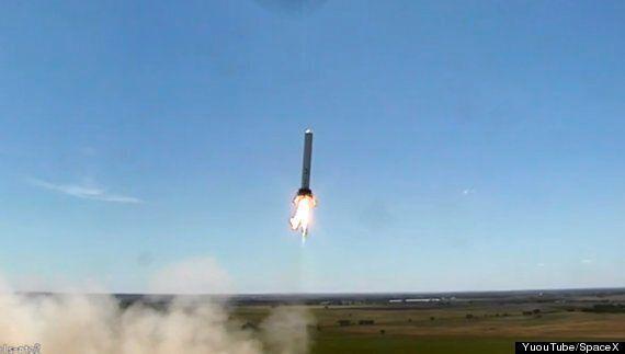 SpaceX Grashopper Rocket Performs Crazy Sideways Manoeuvre Test