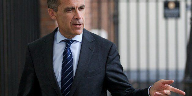 Mark Carney, Governor of the Bank of England leaves number 10 Downing Street after a Global Economy Roundtable...