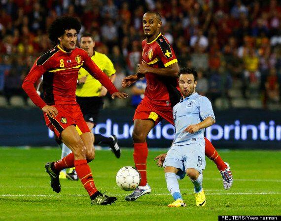 Footballer Mathieu Valbuena Looks Tiny In Bizarre Photograph From France V Belgium