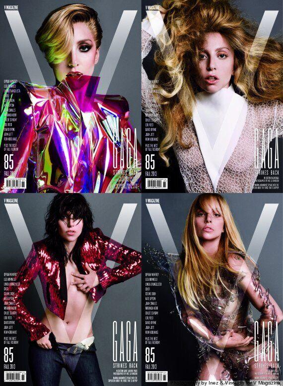 Lady Gaga Unveils V Magazine Covers