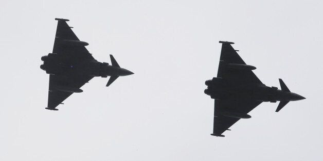 Four RAF Typhoons were scrambled from the Siauliai air base in