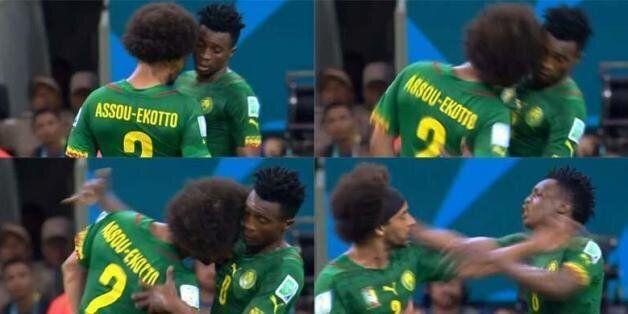 Cameroon 0-4 Croatia: Benoit Assou Ekotto Headbutts Benjamin Moukandjo