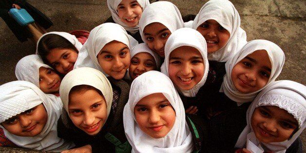 YOUNG STUDENTS AT ISLAMIA PRIMARY SCHOOL IN LONDON, THE FIRST MUSLIM SCHOOL IN THE UK TO BE