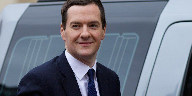 Britain's Chancellor of the Exchequer, George Osborne, arrives at Lancaster House for a UK/China Financial...