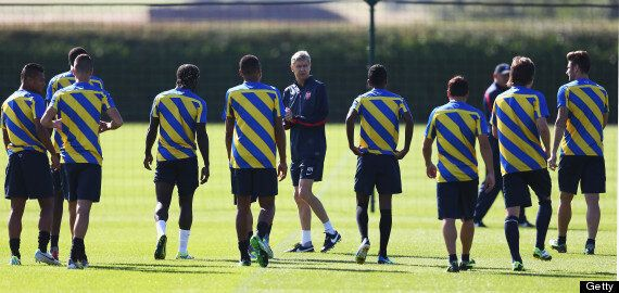 Arsenal Train Ahead Of Champions League Play-Off Vs Fenerbahçe