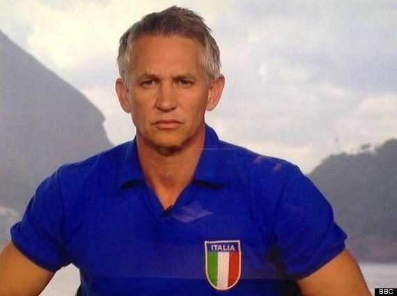 Italy V Costa Rica: Gary Lineker, Ex-England Striker, Shows Azzurri