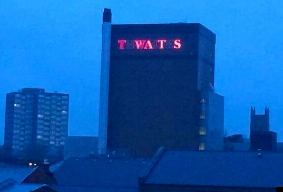 Thwaites Brewery In Blackburn Has Sign Changed Over