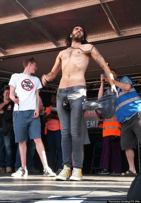 Russell Brand Calls On 50,000 Protesters To Stage 'Joyful