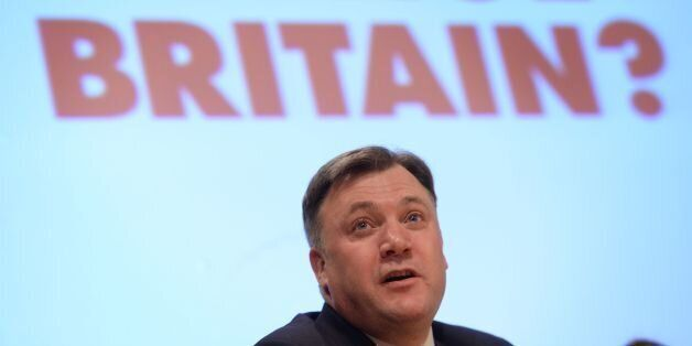 Shadow Chancellor Ed Balls speaking at the Fabian Society annual conference at the Institute of