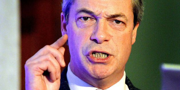 Nigel Farage the Leader of Ukip (United Kingdom Independence Party) during his speech on the City and...