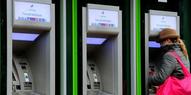 A general view of Lloyds Bank cash machines in