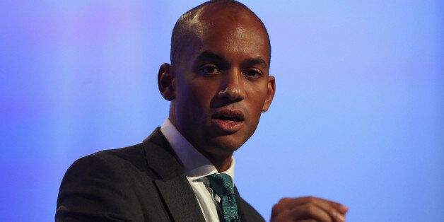 MANCHESTER, ENGLAND - OCTOBER 01: Chuka Umunna MP speaks to delegates at the Labour Party Conference...