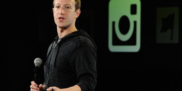 Mark Zuckerberg, chief executive officer of Facebook Inc., speaks during an event at the company's headquarters...
