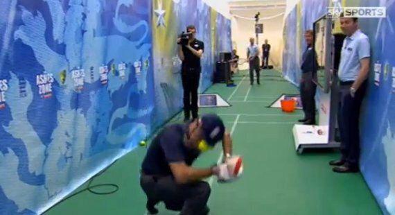 Ashes 2013: Nasser Hussain Hit By Andrew Strauss Tennis Serve