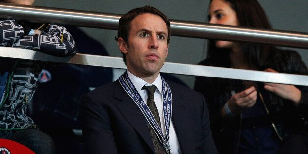 PARIS, FRANCE - MARCH 06: Gareth Southgate looks on prior to the Round of 16 UEFA Champions League match...