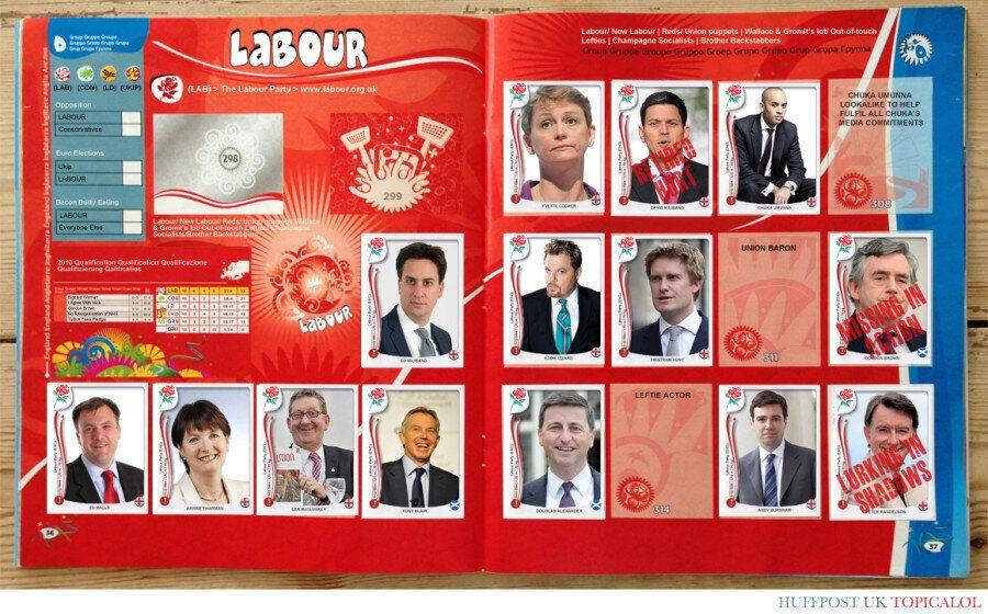General Election Panini Sticker Album: The Labour