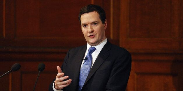LONDON, ENGLAND - JANUARY 15: Chancellor of the Exchequer George Osborne speaks on EU reform in central...