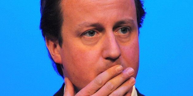 British Conservative party leader David Cameron speaks at the Royal College of Nurses conference in Harrogate,...