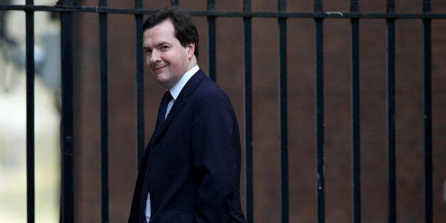 Britain's Chancellor of the Exchequer George Osborne leaves number 11 Downing Street in central London...
