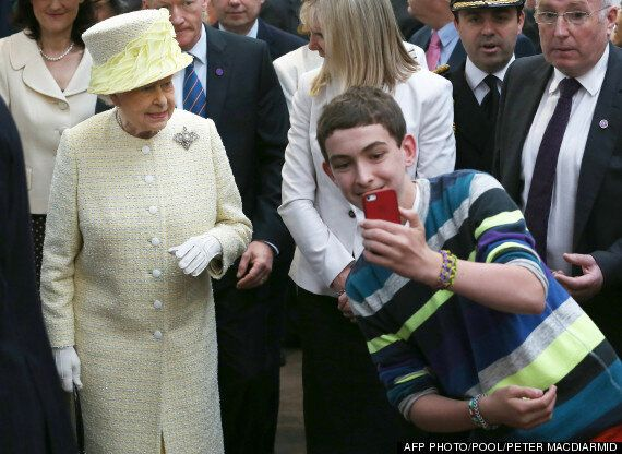 PICTURE: Cheeky Lad Tries To Take A Selfie With The