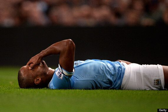 Manchester City Captain Vincent Kompany Out For A