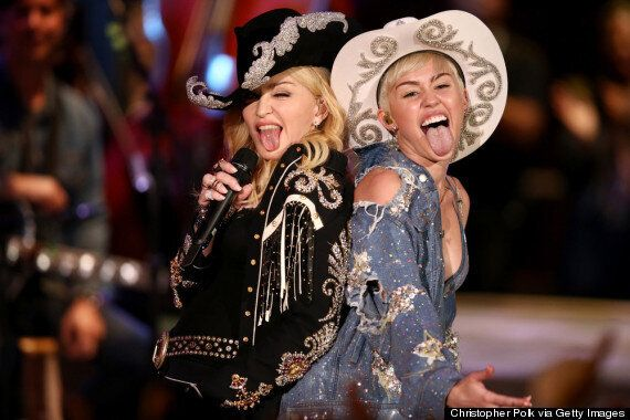 Miley Cyrus And Madonna Team Up For MTV Performance