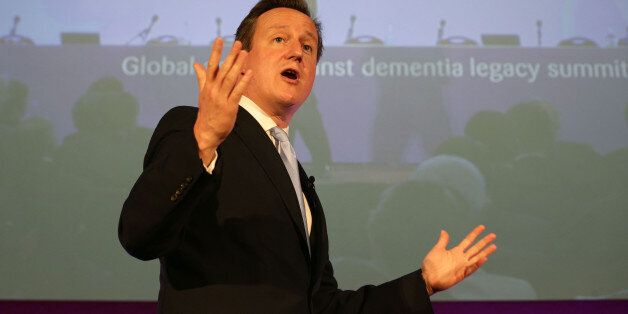 Prime Minister David Cameron speaking at the first Global Dementia Legacy Event, at the Guildhall in...