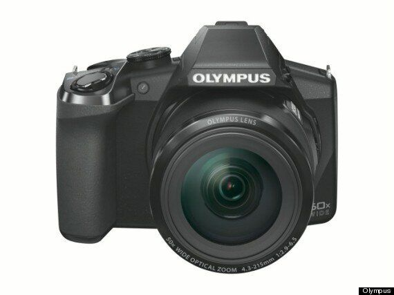 Olympus SP-100 Camera Has A Red Dot Laser Sight Like A Sniper