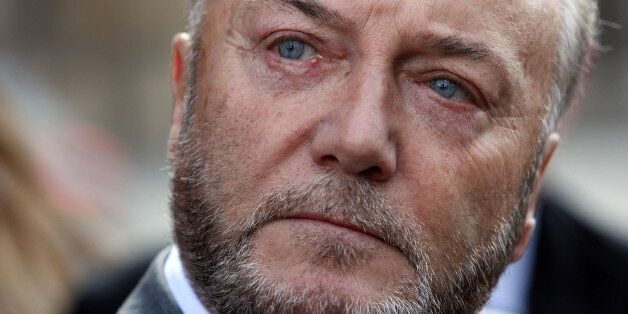 Bradford West MP George Galloway in front of the Houses of