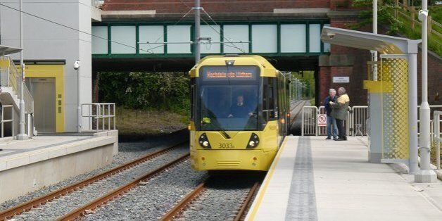 Manchester Tram Station Closed As Dripping Blood Sparks Police