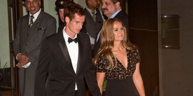 LONDON, UNITED KINGDOM - JULY 07: Andy Murray and Kim Sears sighting at the InterContinental Park Lane...