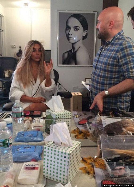 Kim Kardashian's Blonde Hair Fools Instagram Followers... As The 'Keeping Up With The Kardashians' Star...