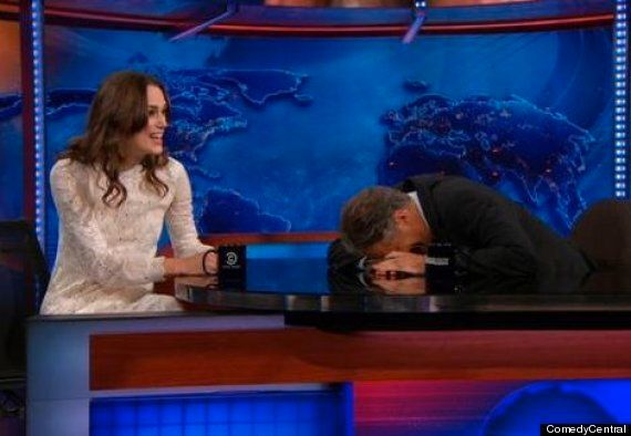 Keira Knightley Tells 'The Daily Show's Jon Stewart She Was Disappointed Her Singing Voice Wasn't Like