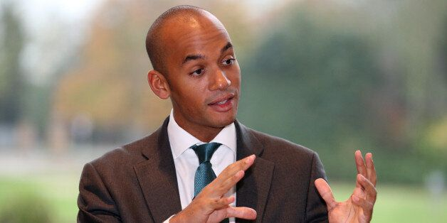 Shadow Business Secretary Chuka Umunna takes questions during a visit to TTP group in Melbourn,