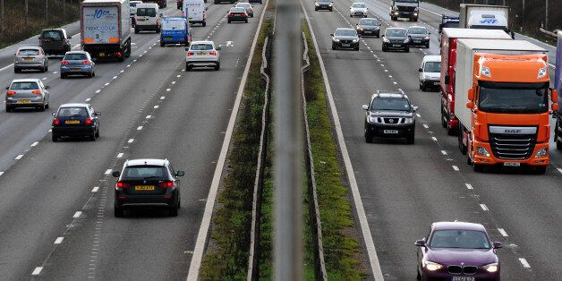 File photo dated 07/01/14 of vehicles on the M1 motorway as car insurance premiums plunged by a record...