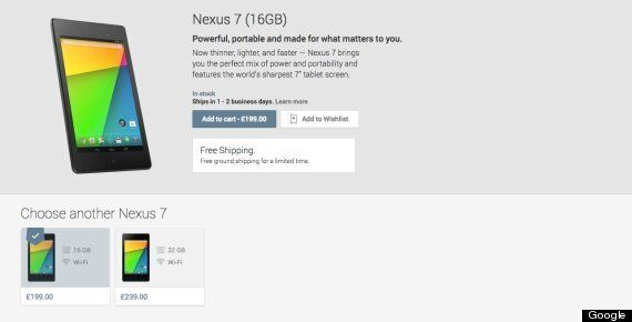 Google Nexus 7 Released In The UK