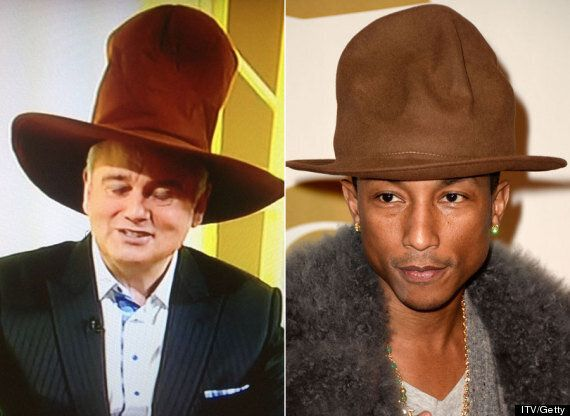 Eamonn Holmes Totally Rocks Pharrell Williams' Grammys Hat On 'This Morning'