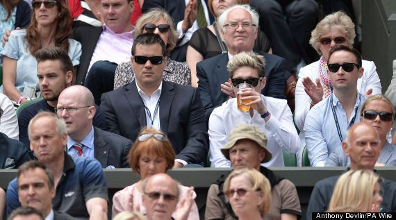 One Direction Stars Niall Horan And Liam Payne Bring Wimbledon To A Standstill As They Watch Heather...