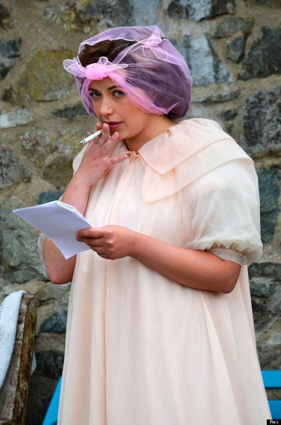Charlotte Church Channels Coronation Street's Hilda Ogden As She Films 'Under Milk Wood'