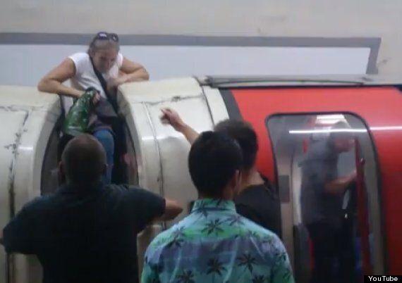London Underground Tube Terror: Panicking Passengers Filmed Trying To Flee Smoke-Filled Central Line...