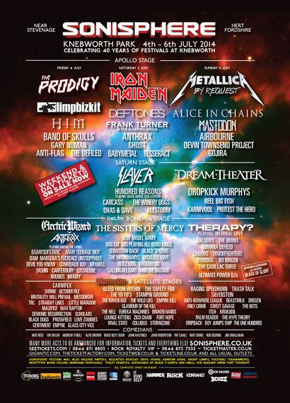 The Return of Sonisphere Festival- 4 Unmissable Bands On Knebworth's 40th