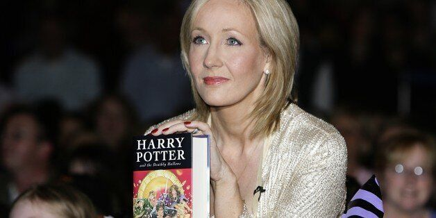 JK Rowling at the launch of Harry Potter and the Deathly Hallows at The Natural History Museum in