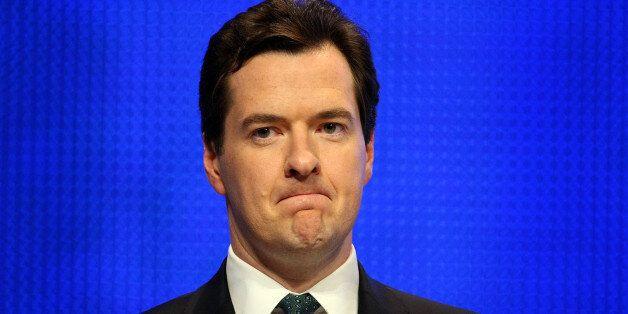 BIRMINGHAM, UNITED KINGDOM - SEPTEMBER 29: Shadow chancellor George Osborne gives his keynote speech...