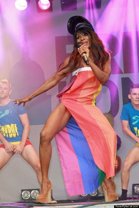 Sinitta Performs At London Pride In Bejeweled Underwear... Her Strangest Outfit Yet?
