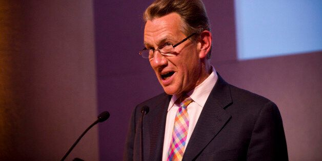 LONDON - JUNE 15: Host Michael Portillo speaks as Director of British Museum Neil MacGregor wins the...