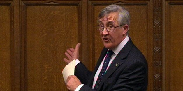 Sir Gerald Howarth MP speaks during a tribute to Baroness Margaret Thatcher in the House of Commons,