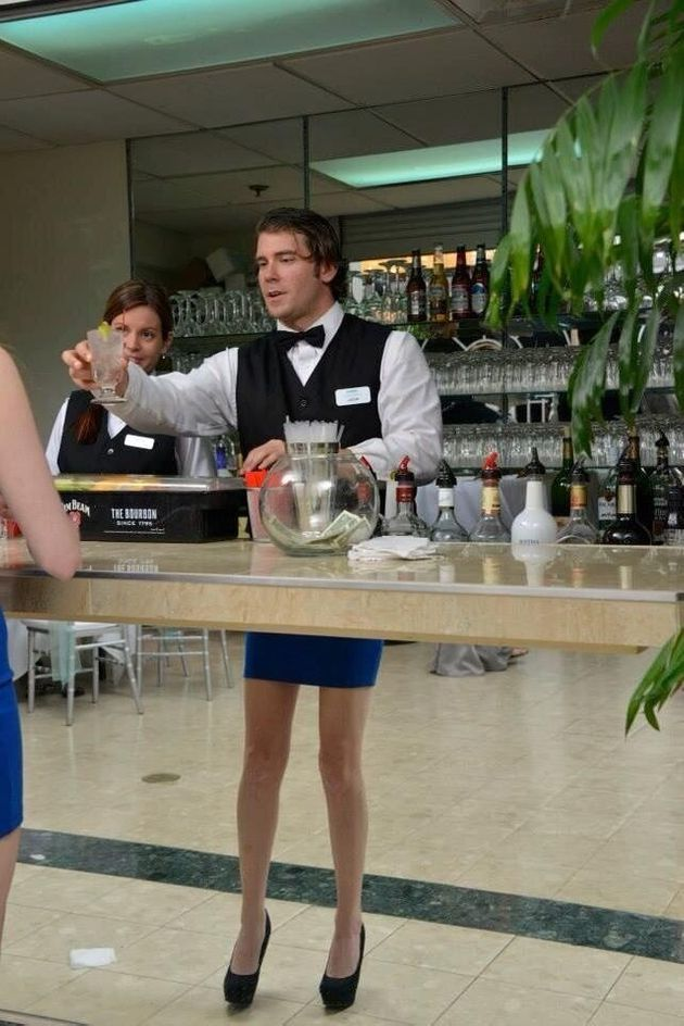 'Barman In A Skirt' Could Be The Best Optical Illusion Ever